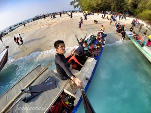 Sore hari di Pulau Perak