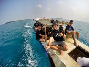 Perjalanan ke Pulau Perak dari Pulau Harapan
