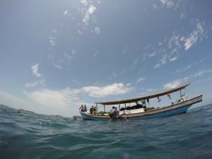 Persiapan snorkeling di Pulau Putri