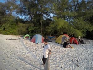 Spot Tenda kami didirikan